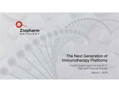 ziop quote ziopharm oncology inc 2017 q4 results earnings call