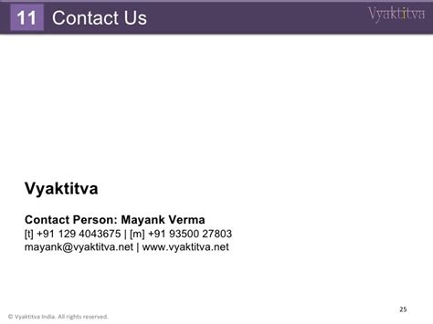 Mayank Second Mba by Vyaktitva Organization Profile