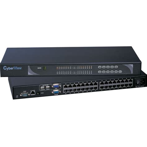 Hughes Kvm Switch 16 Port cyberview standalone 16 or 32 port cat5 kvms rackmount
