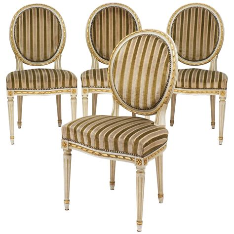 striped dining room chairs gold leaf striped velvet louis xvi dining chairs jean