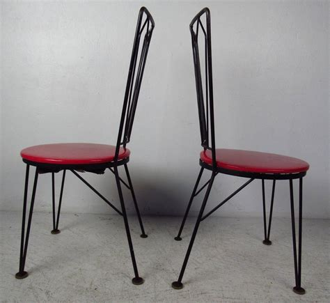 Metal Dining Room Chairs Sale 1950s Metal Dining Chairs For Sale At 1stdibs