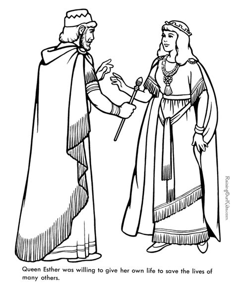 queen ester bible coloring page  print  coloring