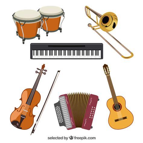 imagenes abstractas de instrumentos musicales colecci 243 n de instrumentos musicales descargar vectores