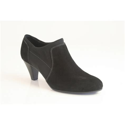 caprice caprice shoe boot in soft black suede leather with