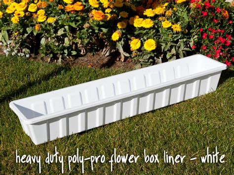 plastic window flower boxes heavy duty poly pro flower box liner window box liners