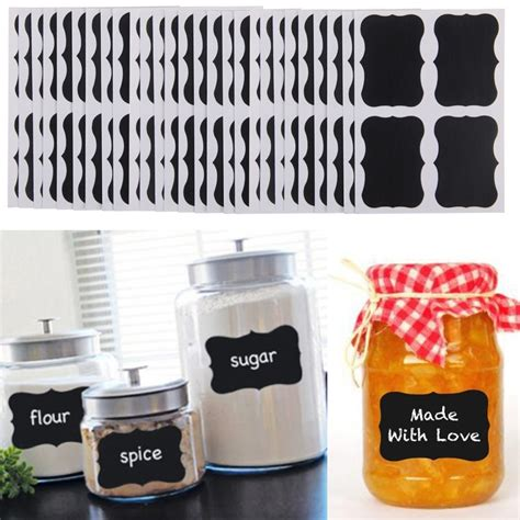 chalkboard blackboard chalk board stickers craft kitchen jar labels 36pcs chalkboard blackboard chalk board stickers decals
