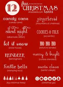 favorite free christmas fonts simplykierste com
