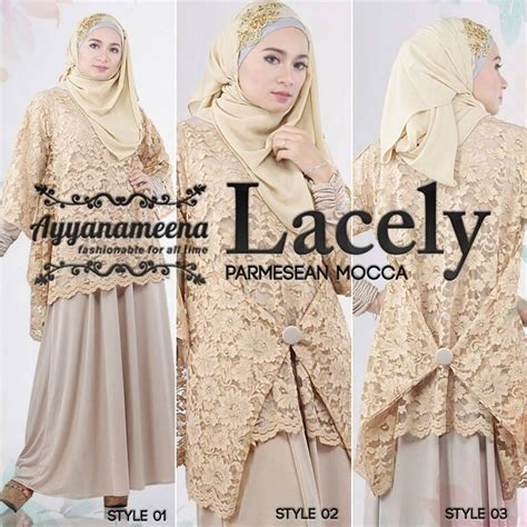 Wings Dres Resleting Depan Baju Busui Fashion Muslimah Simple lacely p mocca baju muslim gamis modern