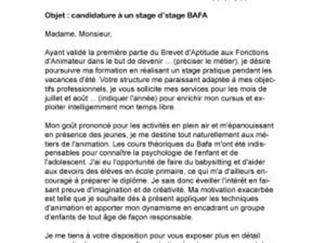 Exemple Lettre De Motivation Stage Bafa Pratique Lettre De Motivation Stage Bafa Par Lettreutile