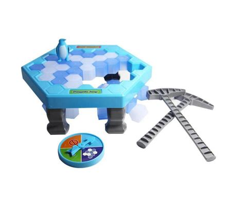 mini breaking save the penguin family penguin trap activate table