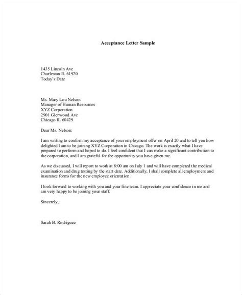 Letter Acceptance Tender Document 34 letter templates in pdf free pdf documents