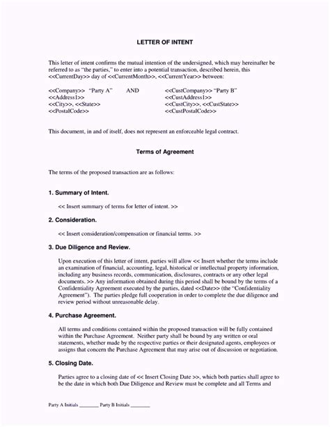 contractor letter of intent template template update234