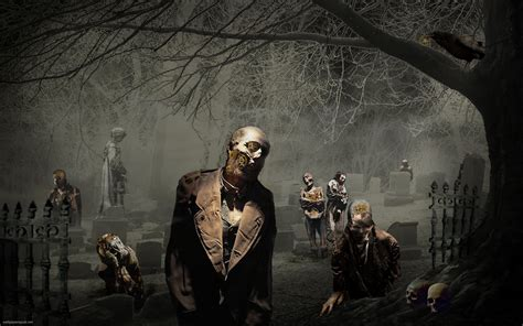 imagenes halloween zombies zombie wallpaper and background 1680x1050 id 263917