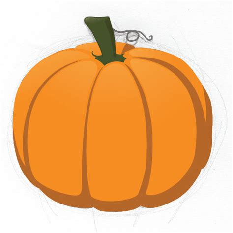 draw a pumpkin for how to draw pumpkin drawing