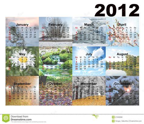 Creation Calendrier Photo Calendario Con Le Stagioni Delle Foto Immagini Stock