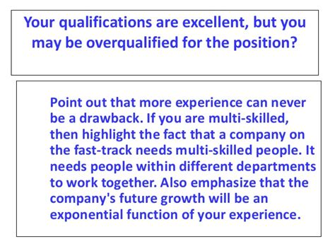 Overqualified For Mba by Mba Mock