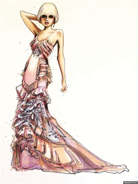 fashion illustration versace moving pictures fashion illustration kershaw in