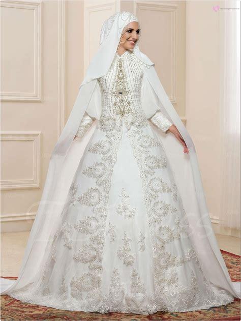 Ballgown Bridal Dress Pesta 19 yeni sezon beyaz tesett 252 r gelinlik 002 tesett 252 r giyim