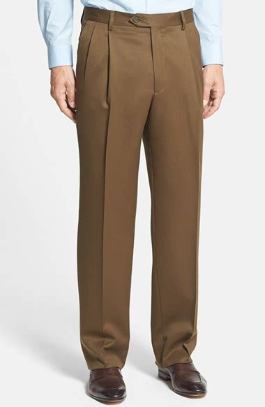 wwwskortmancom mens skirts pleated skirts for men berle pleated wool gabardine trousers in brown for men lyst