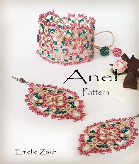 etsy tatting pattern pdf tatting pattern quot anel set quot instant download by