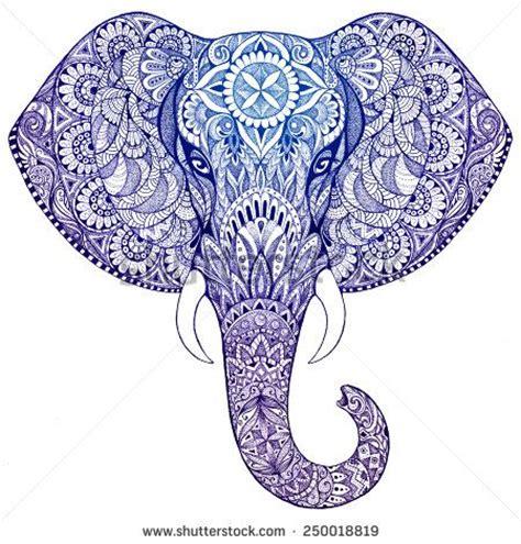 indian pattern elephant tattoo die besten 17 ideen zu mandala elephant auf pinterest