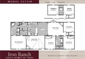 3 Bedroom 2 Bath Double Wide Floor Plans by Cavco Homes Double Wides Manufactured Homes Modular