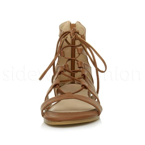 gladiator strappy flat sandals womens flat lace up strappy ankle tie gladiator
