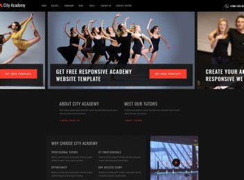 Free Bootstrap Responsive Website Templates Ease Template Free Website Templates For Academy