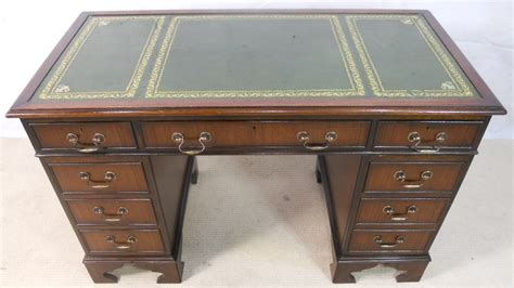Vintage Leather Top Desk antique georgian style mahogany leather top writing desk sold
