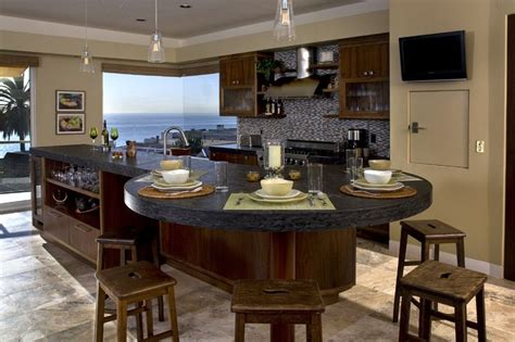 round kitchen island designs granite kitchen island as dining table home sweet home