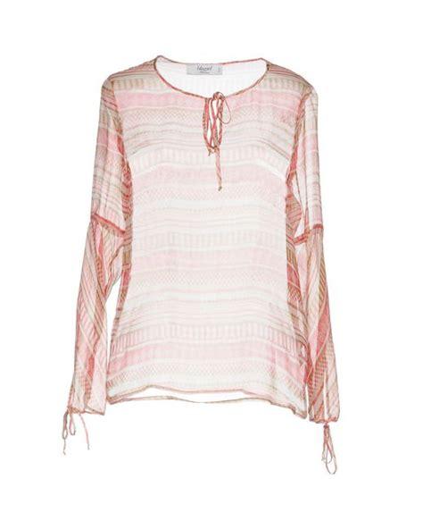 Marien Pink Blouse blugirl blumarine blouse in pink lyst