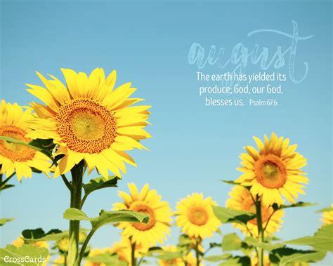august 2016 sunflowers desktop calendar free august