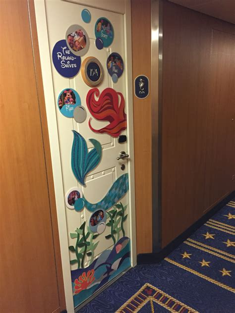 Cruise Decorations by Our Mermaid Themed Disney Cruise Door Decoration
