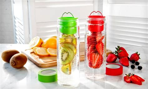 Detox Water Bottle Target by 2 Pack Of Flavour It Fruit Infuser Glass Water Bottles For