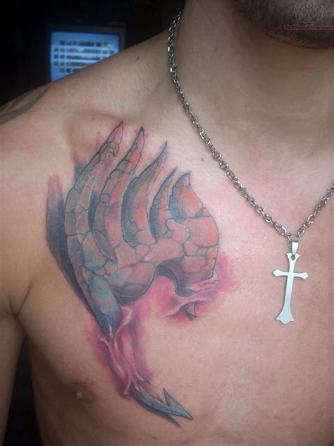 3d chest tattoo 3d on chest