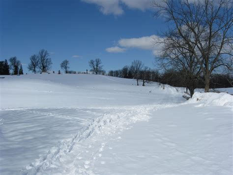 picture of snow gettysburg s february 10th snow storm stevens knoll and