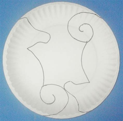p plate template learning seahorse paper plate craft w
