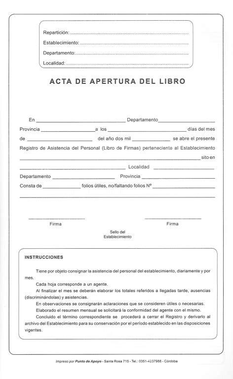 Libro de Firmas F.840 NM SF - PUNTO DE APOYO Dirección Escolar