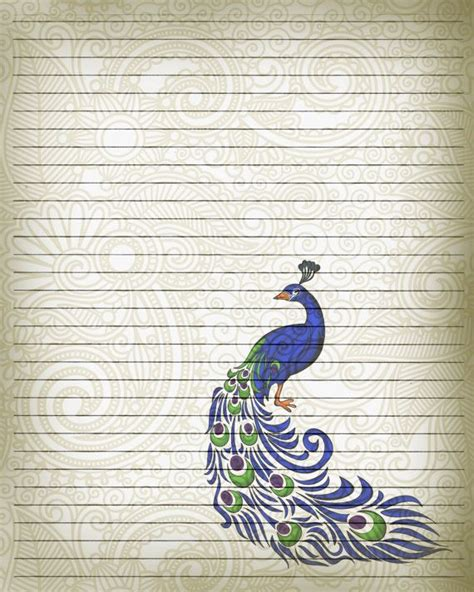 printable wine journal pages printable journal page peacock bird writing by
