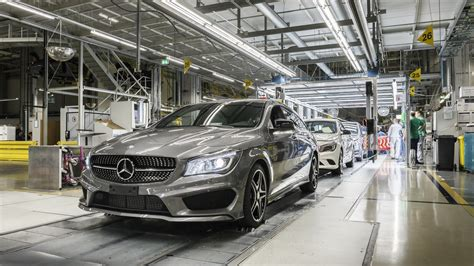 mercedes factory mercedes hungary plant started production of the cla