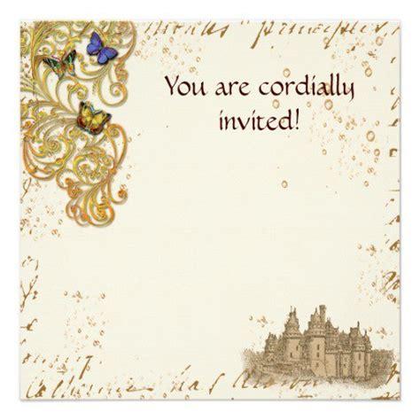 mideval card templates birthday invitations