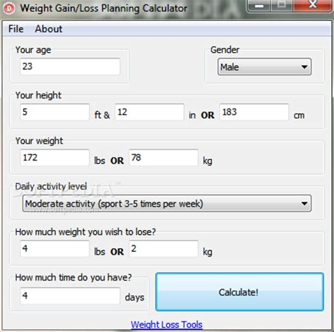 weight calculator weight loss calculator image search results