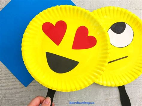 Craft Paper Plates - emoji paper plate craft emotions theme