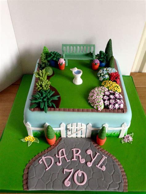 garden themed cake ideas 70th garden birthday cake yum garden