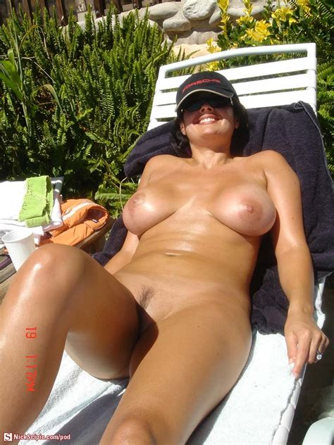 Sunbathing Nude Milf In Porsche Hat Picture Of The Day Nickscipio Com