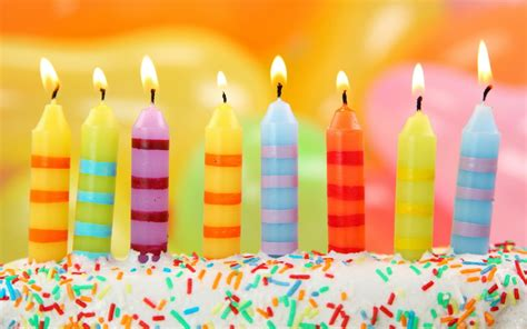 colorful candles the colorful candles on the birthday cake wallpapers and