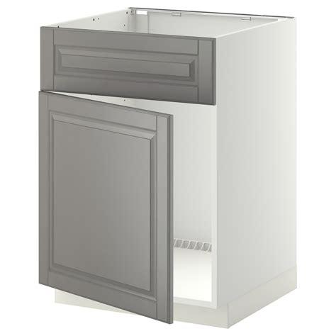 Wandschrank 18 Cm Tief by Metod Base Cabinet F Sink W Door Front White Bodbyn Grey