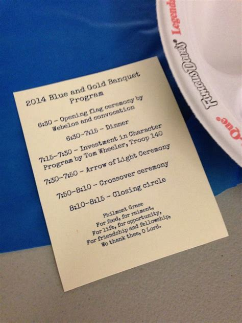 17 Best Images About Blue And Gold Banquet On Pinterest Program Template San Diego And Girl Blue And Gold Banquet Program Template