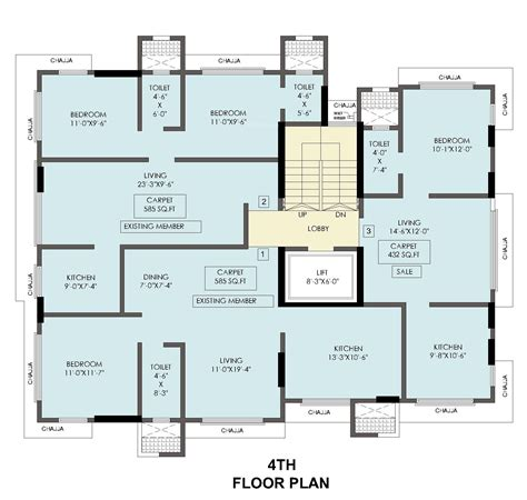 central imperial floor plan 1195 sq ft 3 bhk 3t apartment for sale in niraj kakad