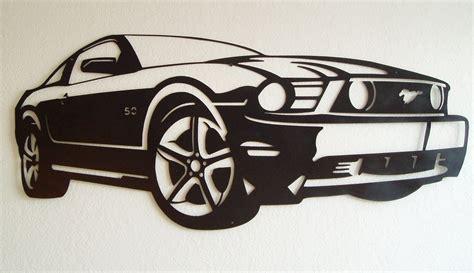 Automotive Wall Murals ford mustang metal wall art